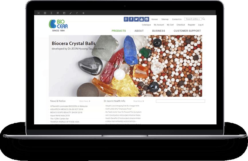 biocera home page