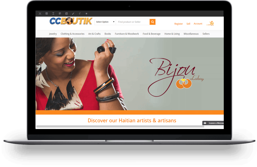 Boutik home page