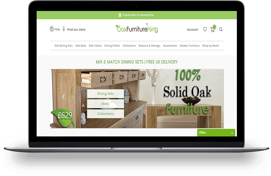 Oak Furniture King Home Page