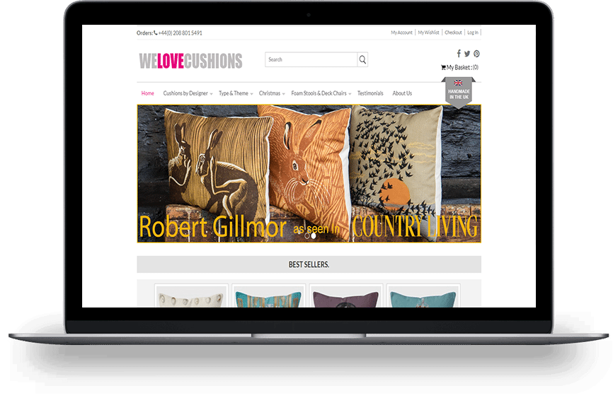 we love cushions home page