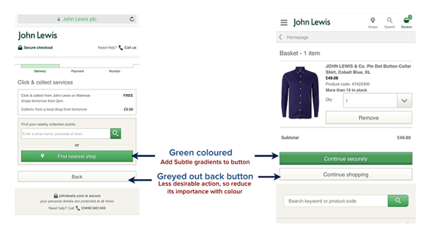 call to action(CTA) buttons