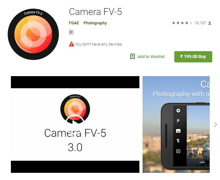 Camera FV-5 Pro