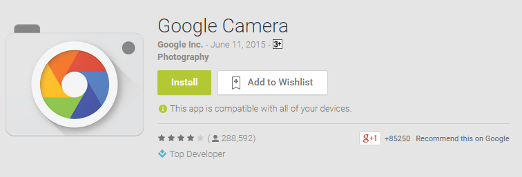 Google Camera android app