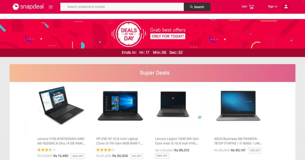 Snapdeal offer deal of the day